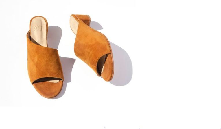 ZouXou Sabine Slide in Burnt Sienna Suede, $248, Photo Cred: ZouXou
