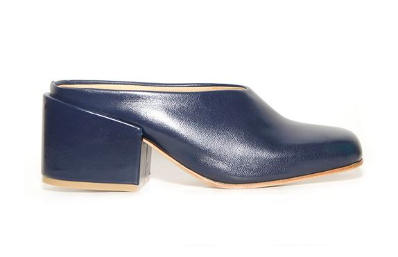 ZouXou Sabot Mule in Dark Navy, $255, Photo Cred: ZouXou