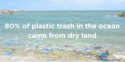 80% of Plastic In Our Ocean Came From Dry Land