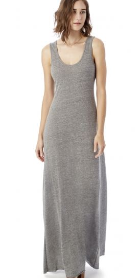 Alternative Apparel Double Scoop Eco-Jersey Tank Dress, $68, Photo Cred: Alternative Apparel
