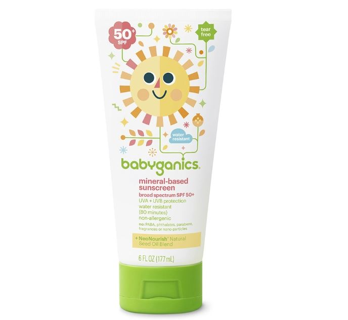 Baby Organics Mineral-Based Sunscreen, 50+SPF