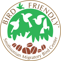 Smithsonian Migratory BIrd Center Bird-Friendly Certified Logo