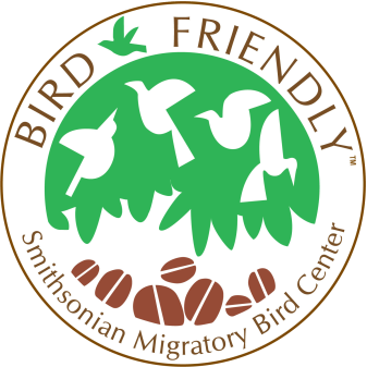 Smithsonian Migratory BIrd Center Bird-Friendly Certified Logo