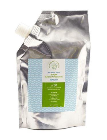 Butterbean Simple Sunscreen, SPF 30 (12oz Refill Pack)