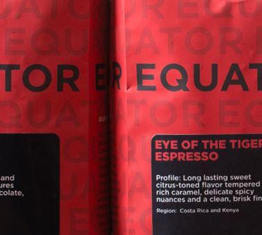 Equator Coffees Eye of the Tiger Espresso, Photo Cred Equator Coffees