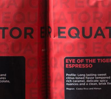 Equator Coffees Eye of the Tiger Espresso, Photo Cred Equator Coffees