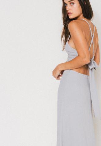 Flynn Skye Adaline Maxi Dress in Grey, $176