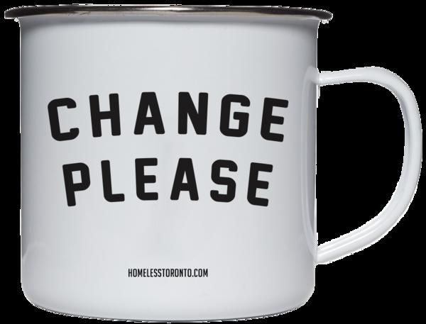 Homeless Toronto Change Please Tin Mug, $25, Photo Cred Homeless Toronto