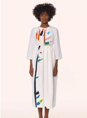 Mara Hoffman Embroidered Midi Dress, $515