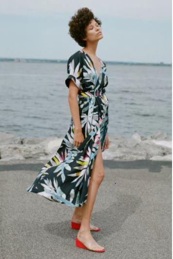 Mara Hoffman Midi Wrap Dress, $425