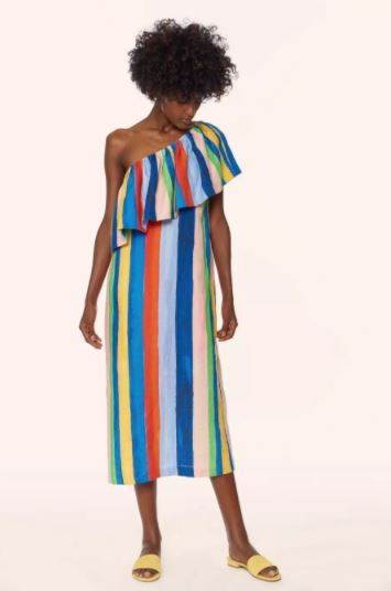 Mara Hoffman One Shoulder Midi Dress, $395