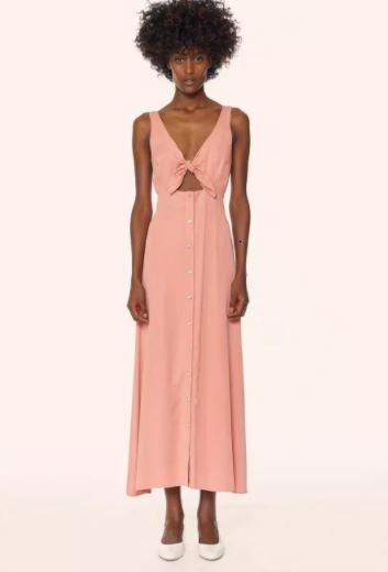 Mara Hoffman Tie Front Button Up Midi Dress, $325