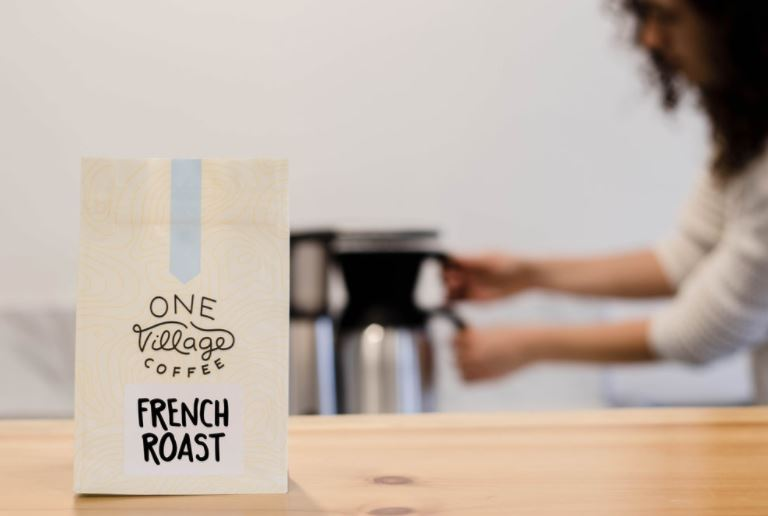 One Village Coffee French Roast, Photo Cred One Village Coffee
