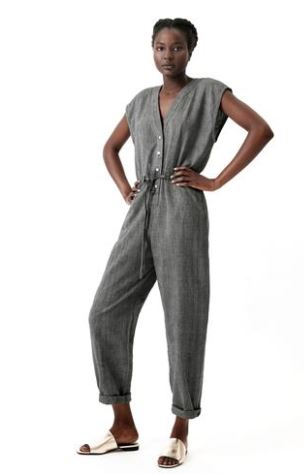 Osei-Duro Accra Pewter Jumpsuit, $175 from Accompany, Photo Cred: Mara Hoffman