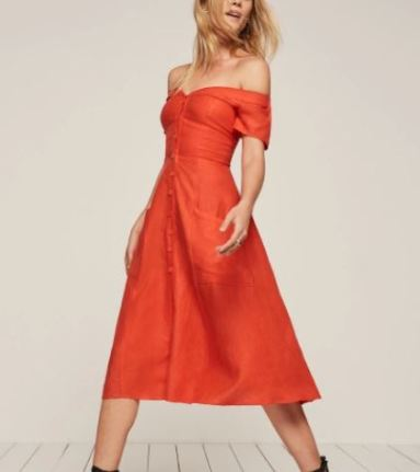 Reformation Mariposa Dress, $198, Photo Cred: Reformation