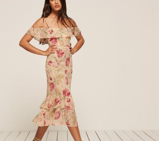 Reformation Odessa Dress, $248, Photo Cred: Reformation