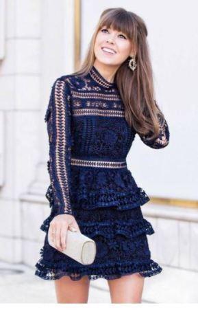 Self-Portrait Ava Guipure Lace Mini Dress, $99 from Style Lend
