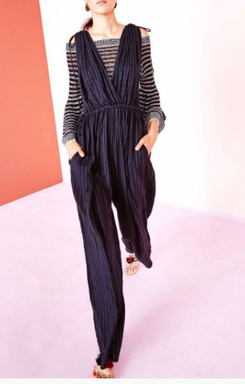 Ulla Johnson Tallis Striped Cotton Gauze Jumpuist, $298 from Accompany, Photo Cred: Accompany
