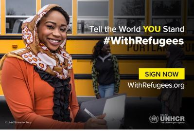 Tell the World YOU Stand With Refugees, Photo Cred: UNHCR