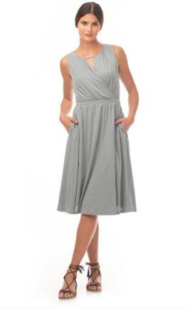 Tissue Knit Begonia Dress in Washed Denim by Synergy Organic Clothing, $75 from Modavanti, Photo Cred: Modavanti