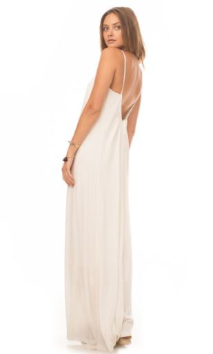 Tissue Knit Ibiza Dress in Cloud by Synergy Organic Clothing, $84 from Modavanit