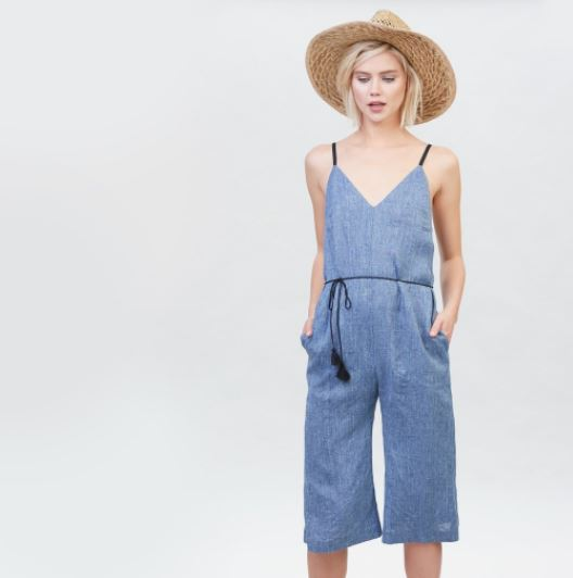 YSTR Hardy Jumpsuit (Denim), $198, Photo Cred: YSTR