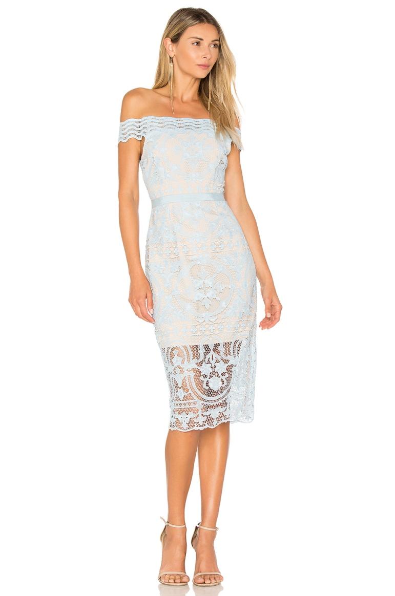 Aijek Padua Off Shoulder Dress, $ from Revolve, Photo Cred Revolve