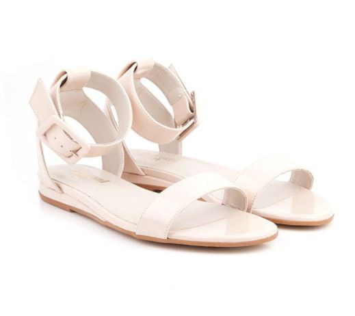 Beyond Skin Cream Pip Sandals, $120, Photo Cred Beyond Skin