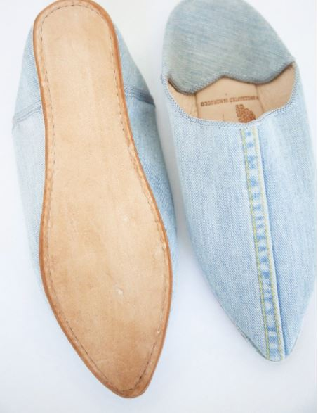 Brother Vellies Denim Babouche, $235 from Two Son, Photo Cred Two Son