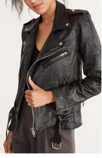 Deadwood Classic Biker Jacket, $278 from Amour Vert, Photo Cred Amour Vert