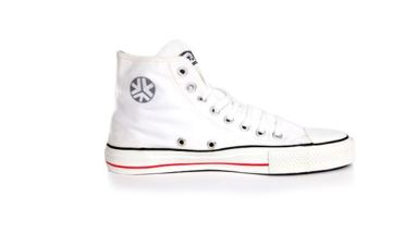Etiko Organic Fairtrade Sneakers Hitops White, $75.96, Photo Cred Etiko