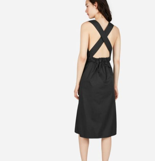 Everlane The Clean Cotton Cross-Back Dress, $98, Photo Cred Everlane