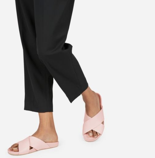 Everlane The Form Crossover Sandal in Pale Rose, $118, Photo Cred Everlane