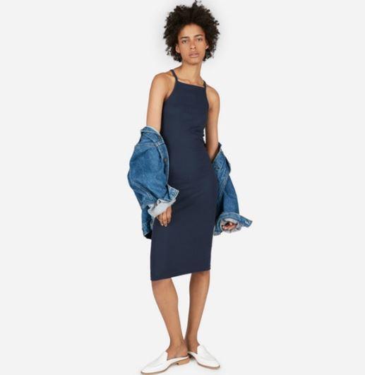 Everlane The Micro Rib Cami Dress, $38, Photo Cred Everlane