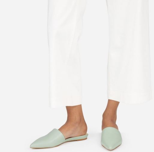 Everlane The Pointed Slide, $145, Photo Cred Everlane