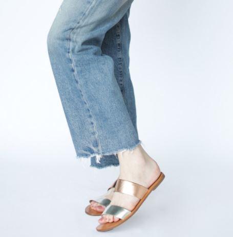Fashionable Joselyne Double Strap Sandal, $78, Photo Cred Fashionable
