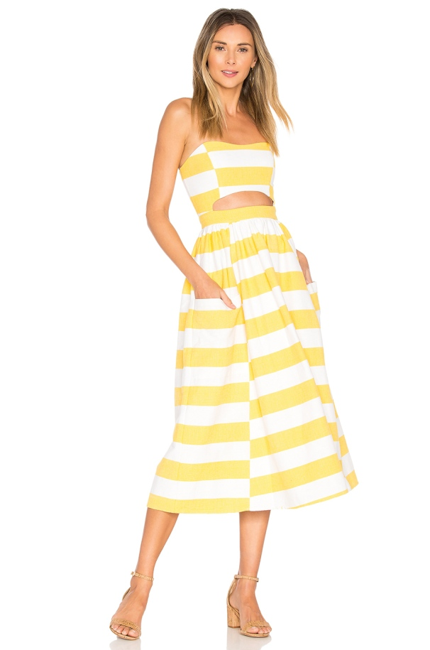 Mara Hoffman Cut Out Midi Dress, $350 from Revolve, Photo Cred Revolve