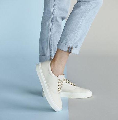 Nisolo Elayna Sneaker Latte, $148, Photo Cred Nisolo