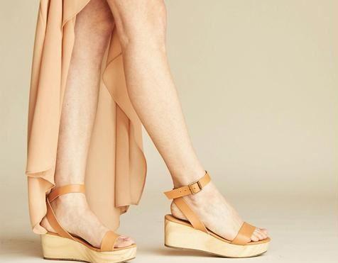 Nisolo Sarita Wooden Wedge Sandal Tan