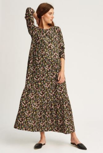 People Tree V&A Tulip Print Gathered Dress, $195, Photo Cred People Tree