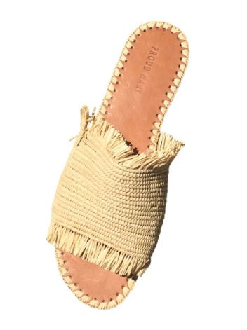 Proud Mary Fringe Slide Sandal, $148, Photo Cred Proud Mary