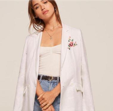 Reformation Besos Jacket, $198, Photo Cred Reformation