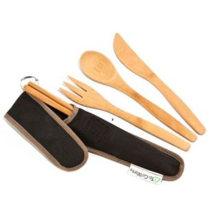 RePeat Utensil Set in Hijiki, $12.95 from To-Go Wear, Photo Cred To-Go Wear