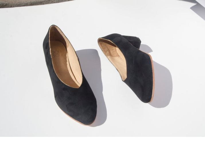 ZouXou Bela Pump in Black Suede, $265