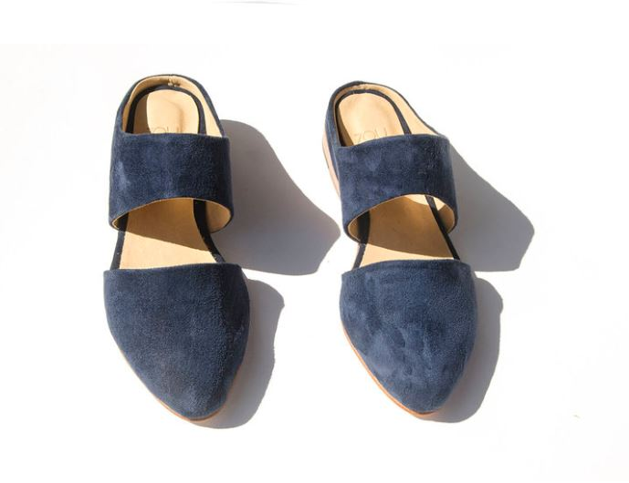 Zouxou Mule in Midnight Suede, $245