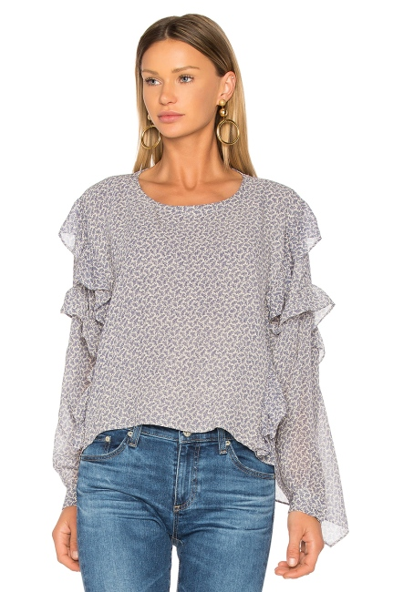 AG Adriano Goldschmied Bijou Blouse in Soft Indigo Dayglow, $218 from REVOLVE