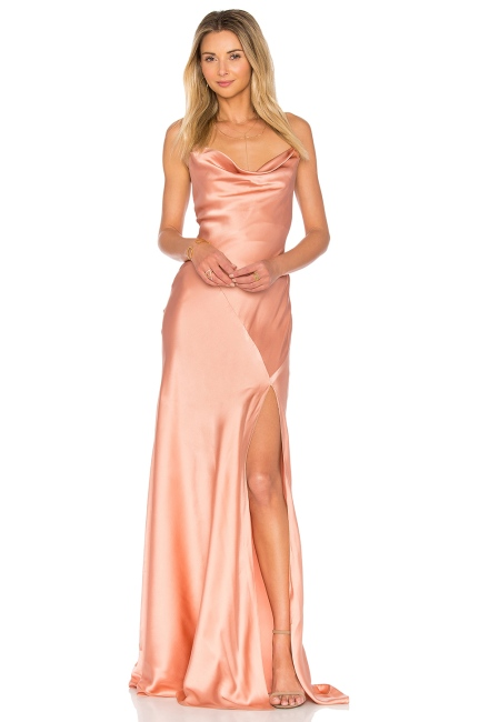 Amur Karlie Gown in Nude, $693 from REVOLVE