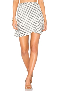 Cleobella Lancashire Wrap Skirt in Ivory, $79 from REVOLVE