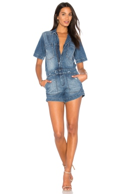 DL1961 Hannah Romper in Cosmic, $188 from REVOLVE