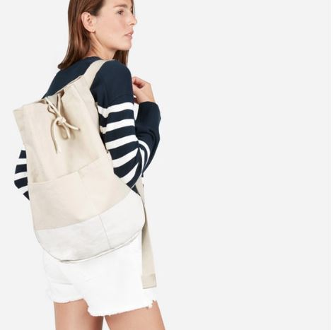 Everlane The Beach Canvas Backpack, Photo Cred Everlane